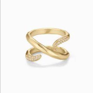 Stella & Dot Adeva Wrap Ring Size 9